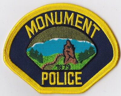 Monument Police Patch Colorado CO NEW!!