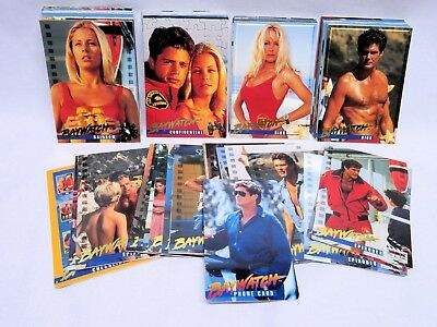 BAYWATCH TV Series, 100 Trading Card LOT and Bonus Subset Cards, High Grade