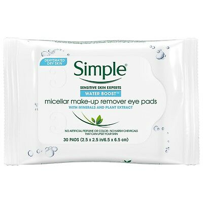 Simple Water Boost Micellar Makeup Remover Eye Pads