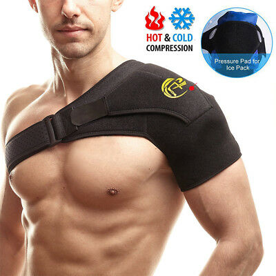 Neoprene Shoulder Brace Rotator Cuff Support Belt Dislocation Pain Relief Sports
