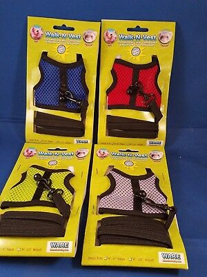 Lot of 4 Walk N Vest Harness & Leash For Small Animals
