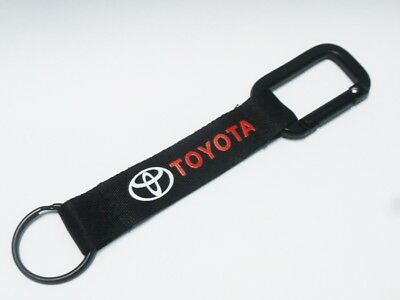 Bike Moto Car Logo Strap Belt Pants For Toyota Keychain Ring Carabiner Fob #14