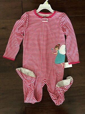 New TWO PAIRS Carters Girl's 4T Cotton / Summer Footed Pajamas SHIPS FREE