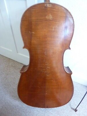 Antique Cello  For Restoration With Bow And Soft Case