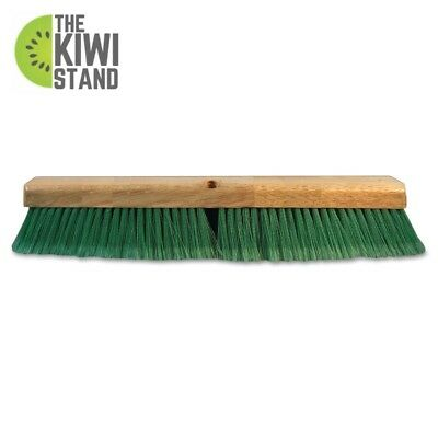 Plastic Push Broom Head 24 in Green Flagged Recycled Pet Bristle Cleaning Tool