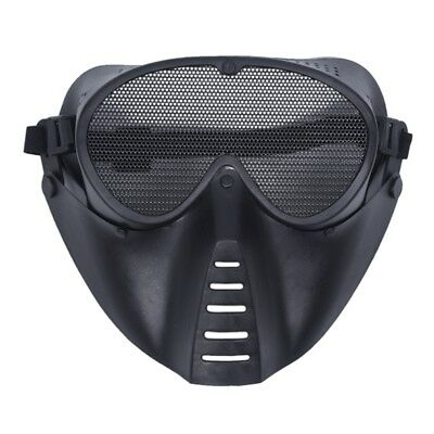 Mask Airsoft protective mask Paintball Black New V6W9