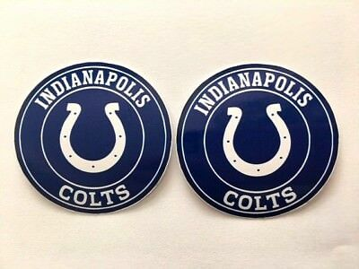 2x Indianapolis Colts Car Bumper Wall Laptop Vinyl Die Cut Stickers Decals