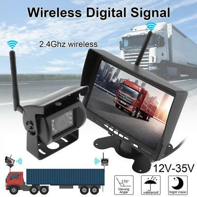 7 Inch Wireless Car Backup Camera Rear View Camera HD TFT LCD Rear View Monitor