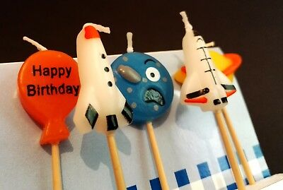 5 TALA Space Birthday Cake Party Novelty Candles Rocket Planet Spaceship Kids