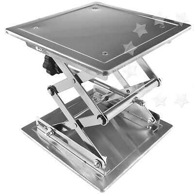 8'' Stainless Steel Lab Stand Table  Lift laboratory Jiffy Jack 100*100mm