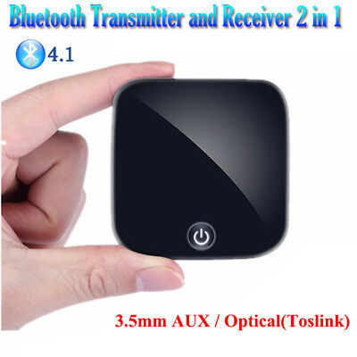 Bluetooth Transmitter and Receiver 3.5mm AUX Wireless Audio Adapter for TV Car