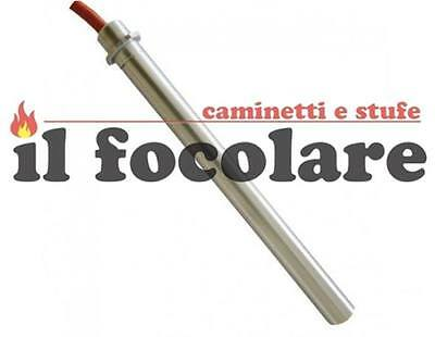 CANDELETTA ACCENSIONE STUFA PELLET C/FLANGIA 350W 160mm 150mm 12,5mm ROYAL