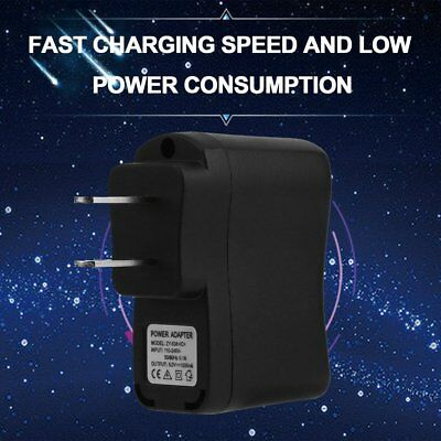 USB AC DC Power Supply Wall Adapter Charging MP3 Charger US Plug Black MA