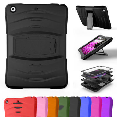 Shockproof Hybrid Case Cover For Apple iPad Mini 1 2 3 4 with Screen Protector