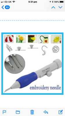 6-Piece ABS Plastic EMBROIDERY PUNCH NEEDLE - Brand New in Original Wrapping