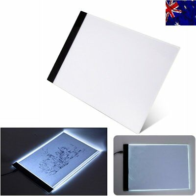 A4 LED Artist Thin Art Stencil Board Light Box Tracing Drawing Board Table 【AU】