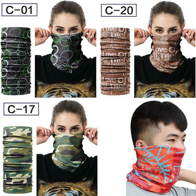 Motorcycle Outdoor Face Mask UV Sun Shield Neck Gaiter Headwear Band Scarf Skull