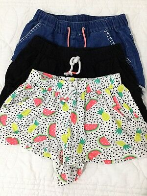 PRE LOVED: 3 x Girls Shorts Size 7