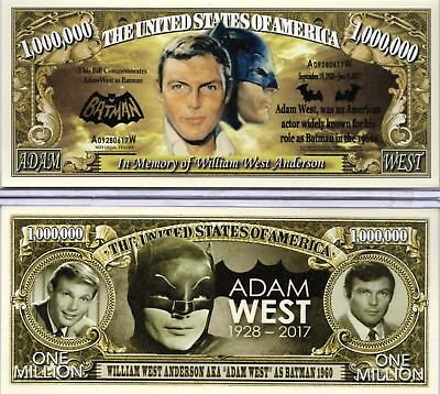 Adam West - Batman 1960s In Memory of Million Dollar Novelty Money