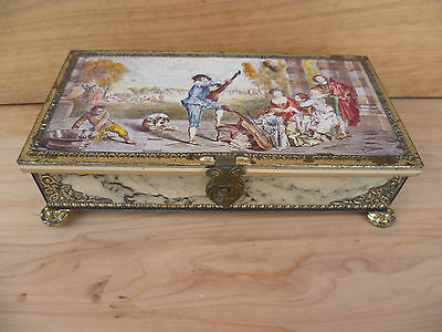 Vintage Old Classic Scene Household Tin, Old Tin, (A89)