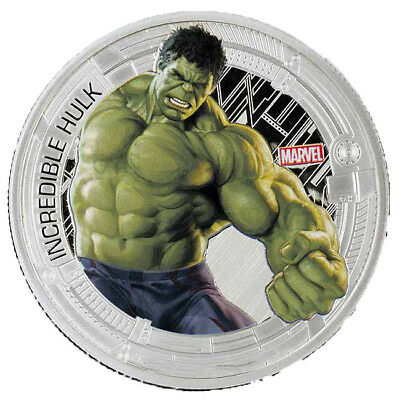 1 oz Avengers Age of Ultron Hulk Finished in 18k White Gold Coin/Medallion