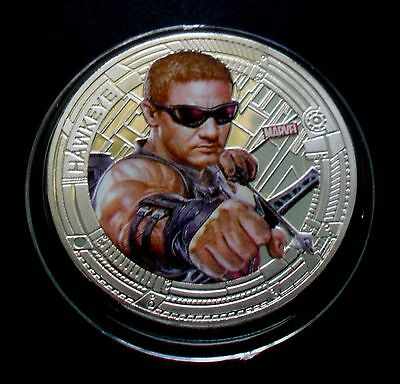 1 oz Avengers Age of Ultron - Hawkeye Finished in 18k White Gold Coin/Medallion