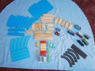 Job Lot of Varied Tracks/Train's Wooden & Tomy Track -other bits, see photo's