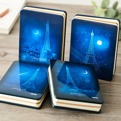 """""""Night Tower"""" 1pc Beautiful Metal Cover Notebook Study Freenote Diary Journal"""