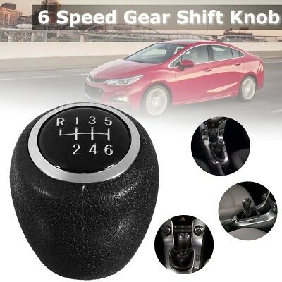 Black 6 Speed Gear Knob Shift Head Lever Shifter Cover For Holden Cruze Epica