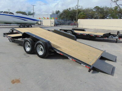 "New 2018 Delta ""tilt Deck"" 7 Ton Equipment Flatbed Tandem Axle Trailer - Brakes"