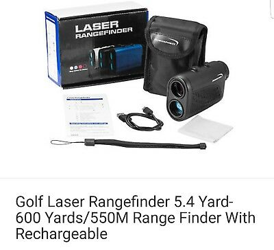 Golf Laser Rangefinder 5.4 Yard-600 Yards/550M With rechargeable