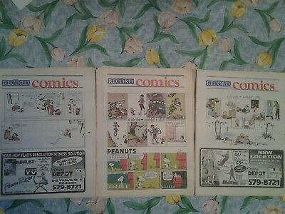 40 Kitchener-Waterloo Record Saturday Colour Comics Sections 1995