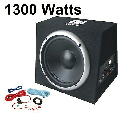 """Active 12"""" Subwoofer Bass box 1300 Watts Car Audio Sub woofer Built in Amplifier"""