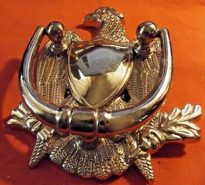 Beautiful Brass Eagle  7 X 5.5  inches Heavy  Patriotic   DOORKNOCKER   Beautifl