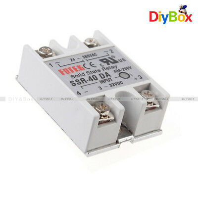24V-380V SSR-40DA 40A 3-32V DC-AC Solid State Relay Module for Arduino HOT