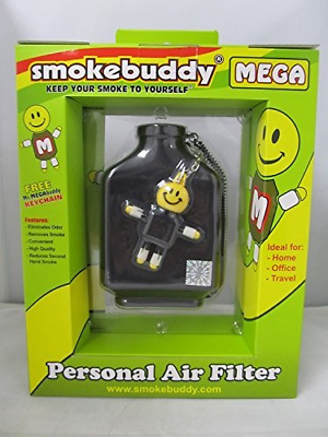 Smoke Buddy Mega Personal Air Purifier Cleaner Filter Removes Odor - Black