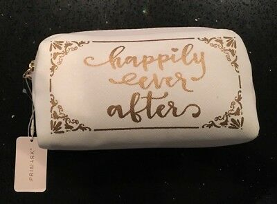 HAPPILY EVER AFTER Bride Bridal Make Up Bag Cosmetic Bag Primark Licensed