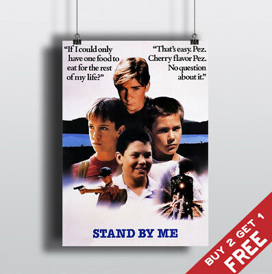 STAND BY ME 1986 MOVIE POSTER Film A3 A4 Fan Art Print Home Wall Decor Gift Idea