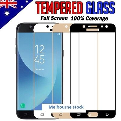 Full Coverage Tempered Glass Screen Protector For Samsung Galaxy J5 J7 Pro 2017