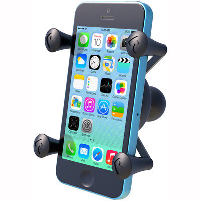 Motorcycle Ram Mount X-Grip Universal Phone Holder 1 Inch Ball - Black UK Seller
