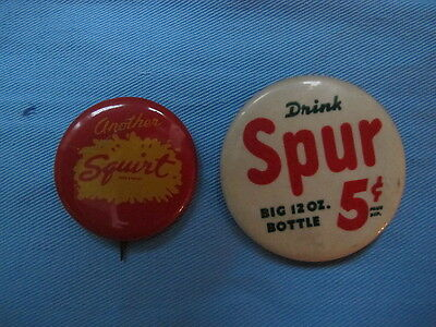 Squirt Citrus Soda Drink Spur Cola Big 12 oz Bottle 5 cents Advertising Pin