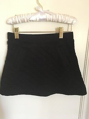 Janie and Jack girls black skirt  quilted with pockets size 8