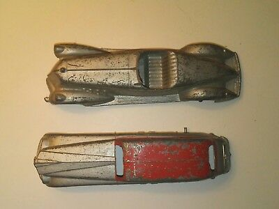Vintage Old Antique Diecast Metal Tootsietoy Toy Art Deco Cars parts