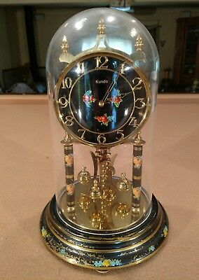 Kundo Vintage 400 Day Anniversary Clock- working w/ instructions & key