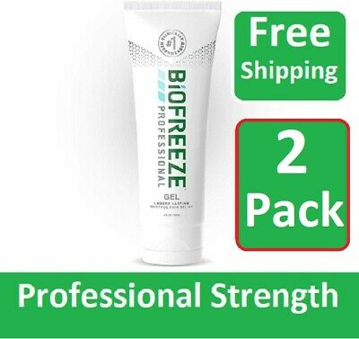 Biofreeze Professional 4oz Gel Tube - Pack of 2 - ALWAYS FRESH ! - Fast Shipping