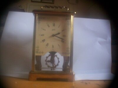 Aug Schatz & Sohne Germany carriage clock with visible Escapement model 59