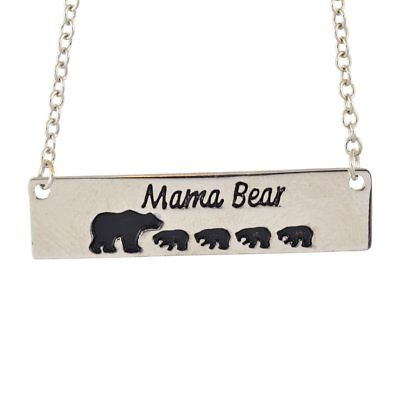 Sentimental Necklace//pendant Silver//gold plated UK seller Mama Bear 2 Cubs