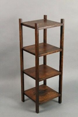 Circa 1910 Antique  Arts and Crafts Mission Shelving Unit (11087)
