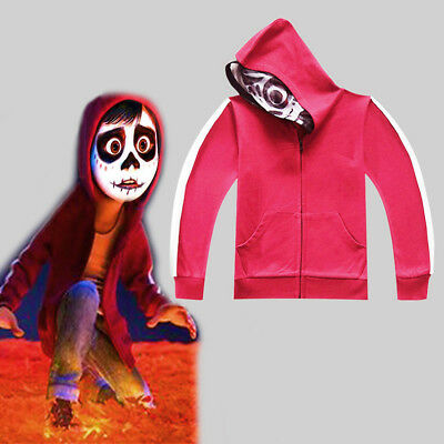 US STOCK Coco Miguel Hoodie Boys Kids Sweatshirt  Zip-up Jacket Costume O93
