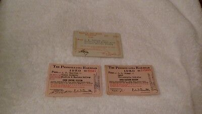 Reduced: Lot Of 3 Railroad Passes (1Price For All)